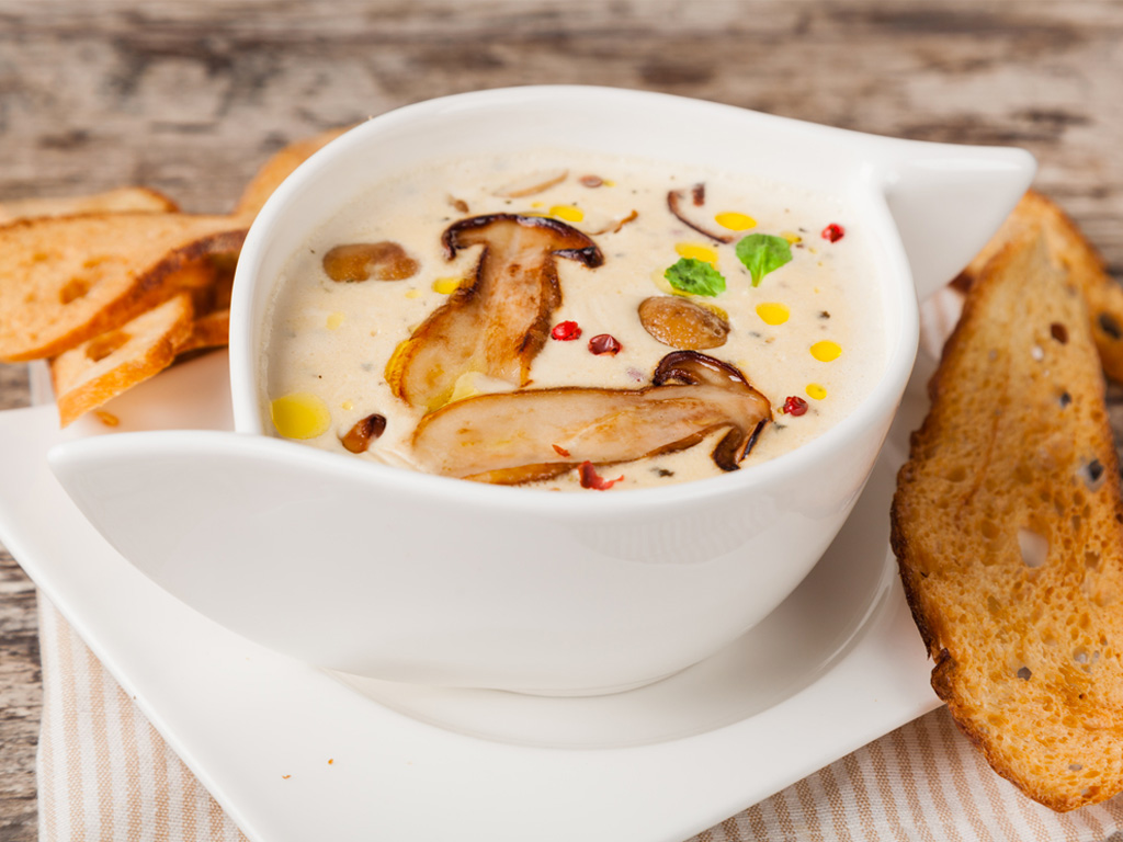 Ricette di cucina funzionale crema di funghi la palestra for Ricette di cucina particolari