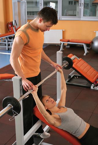 allenamento in sala pesi