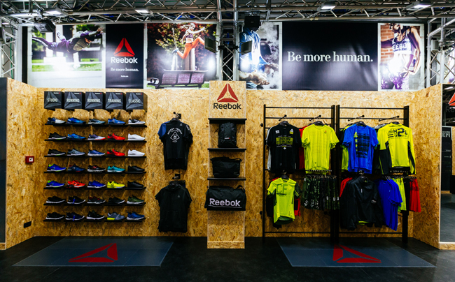 immagine del temporary store di Reebok