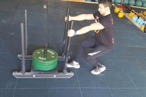 allenamento con la slitta-Andreini