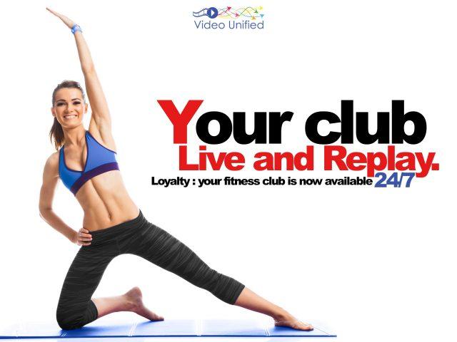 Fitness club video streaming platform