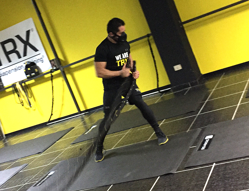Allenamento con Training Mask-Simone Luca Sanna