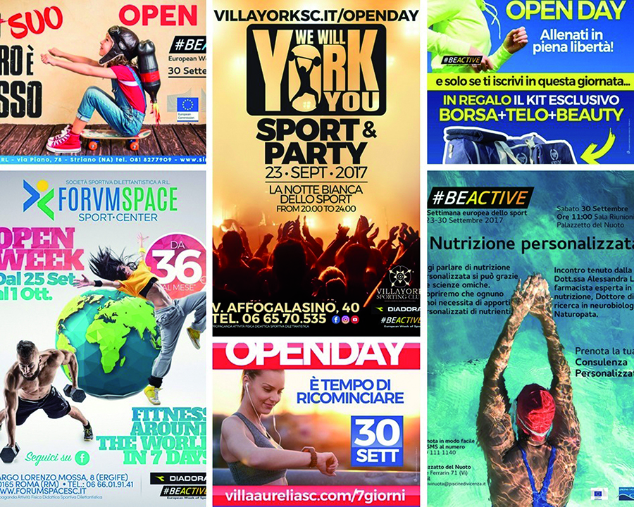National Fitness Days collage